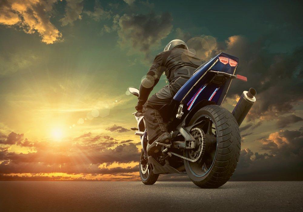 Motorcycle at Dusk